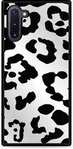 Galaxy Note 10 Hardcase hoesje Luipaard Zwart Wit
