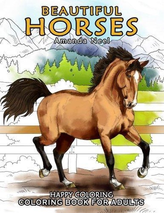 Afbeelding van Beautiful Horses - Coloring Book for Adults
