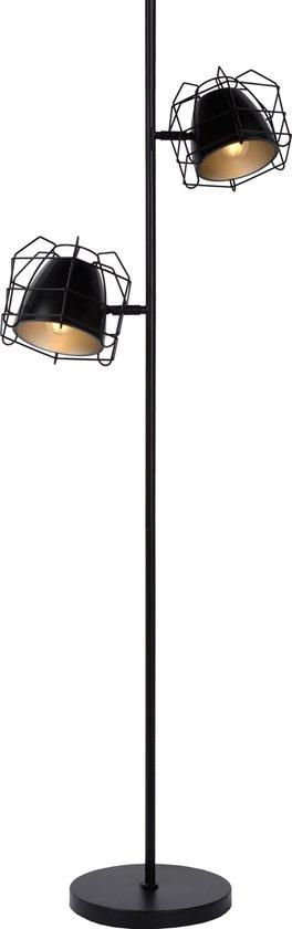 Lucide GRID Vloerlamp 2xE14 Zwart