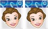 2x Disney Belle maskers