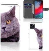 iPhone 11 Pro Max Telefoonhoesje met Pasjes Kat