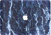 Design Hardshell Cover hoesje voor MacBook Air 13.3 inch (2018) - Marmer Zwart