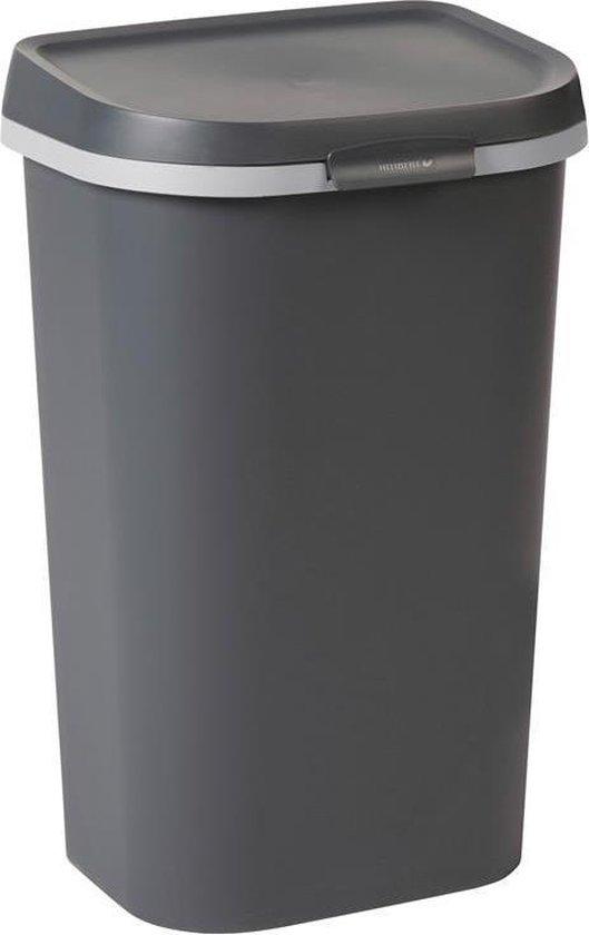 Curver Mistral Flat Prullenbak - 50L - Antraciet - Recycled Kunststof