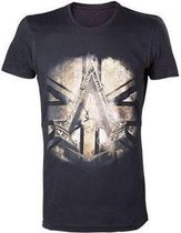 Assassins Creed Syndicate Bronze Crest with British Flag TShirt S