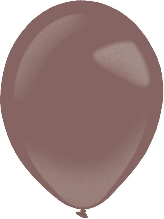 Amscan Ballonen 13 Cm Latex Metallic Bordeaux 100 Stuks