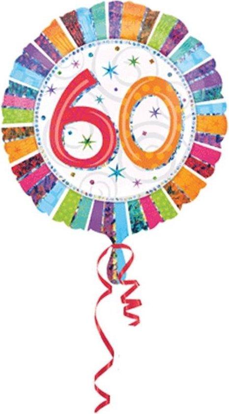 Folie ballon 60 jaar verjaardag versturen - Feestartikelen en versiering cadeau