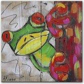 Schilderij - Kiekeboe