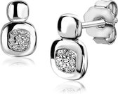 Zinzi Silver Jewels Oorbellen  - Wit