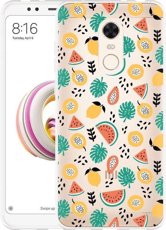 Xiaomi Redmi 5 Plus Hoesje Tropical Fruit