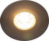 QAZQA xena - Inbouwspot - 1 lichts - Ø 78 mm - Zwart