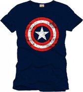 C. America Cracked Shield T-Shirt S