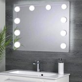 SB LXRY® Hollywood lampen - Spiegel lampen - Hollywood spiegel lampen - Visagie - Make up verlichting - Badkamer spiegel licht - Theaterspiegel LED verlichting - Beauty LED - Spiegel verlichting - Make up tafel lampen - 5 standen