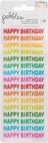 Pebbles stickers happy hooray x32 repeat happy birthday