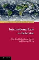 Omslag International Law as Behavior