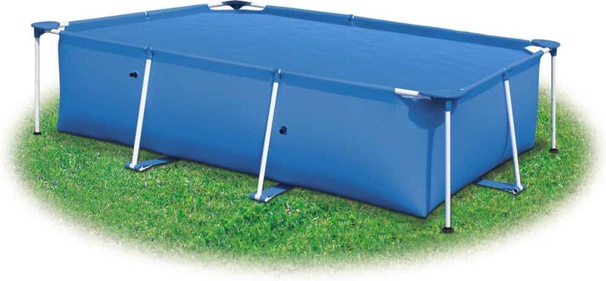 vidaXL Zwembadhoes rechthoekig 800x500 cm PE blauw