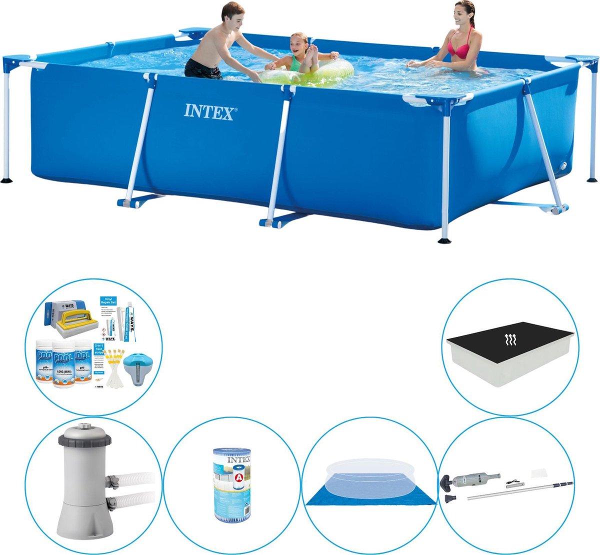 Intex Frame Pool Rechthoekig 300x200x75 cm - Zwembad Combinatie Pakket