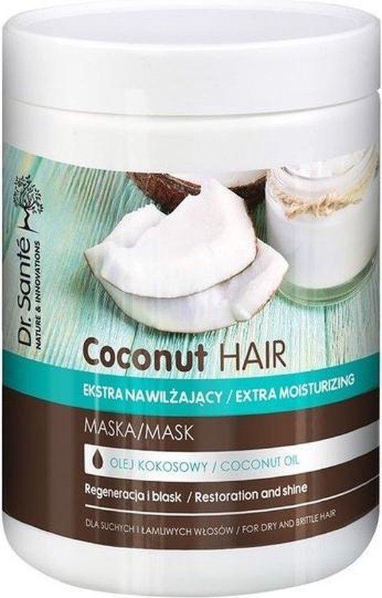 Kokosnoot Haarmasker Extra vochtinbrengend masker met kokosolie voor droog en breekbaar haar 1000ml