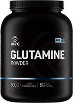 PURE Glutamine Powder - 500gr - 100% zuiver - l-glutamine poeder - aminozuren