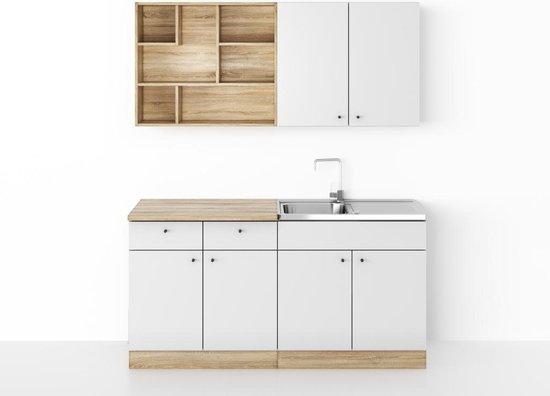 Bol Com Kleine Keuken 160 Cm Modern Keukenblok Met Spoelbak Sifon