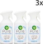 Air Wick Pure Luchtverfrisser Spray - Zachtheid van Katoen - 3 x 250 ml - Grootverpakking