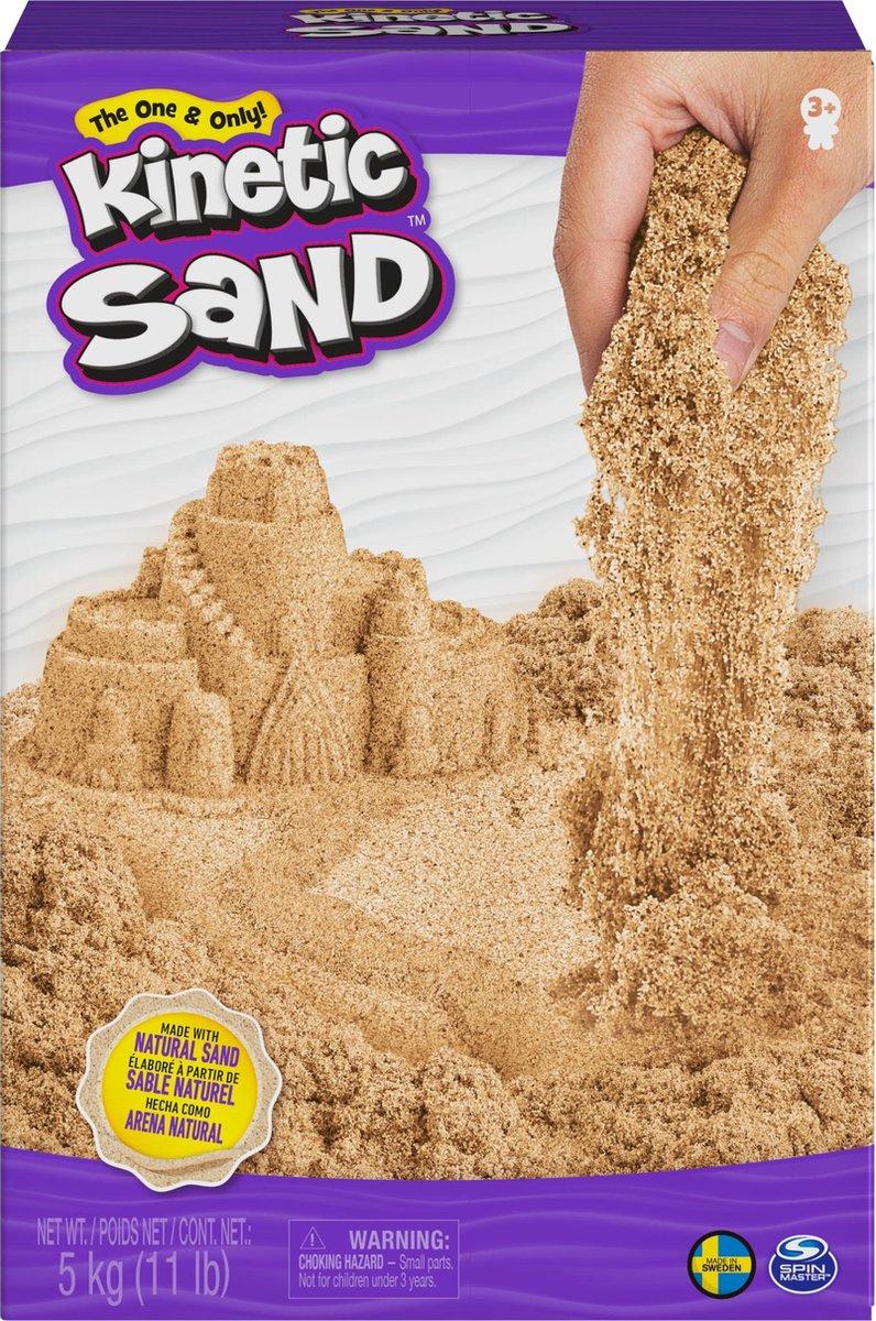 Kinetic Sand , 5 kg bruin natuurlijk zand om te mengen, kneden en creaties mee te maken, vanaf 3 jr.