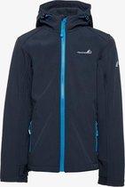 Mountain Peak kinder outdoor softshell jas - Blauw - Maat 116 - Winddicht - Ademend materiaal