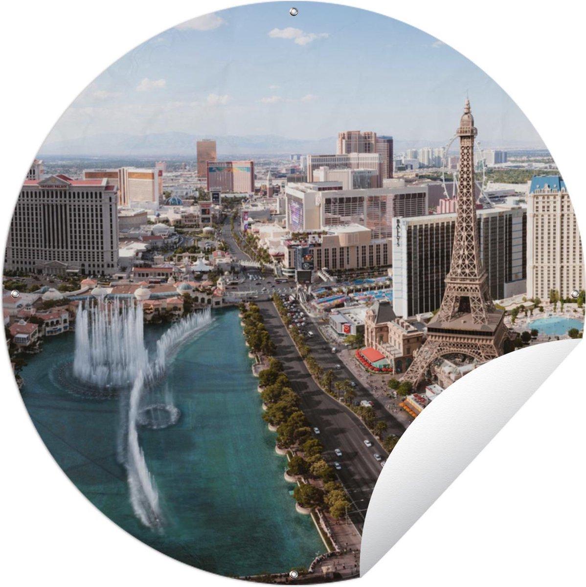 Tuincirkel - Bellagio fontein Las Vegas - Verenigde staten - 60x60 cm - Tuinposter