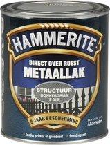 Hammerite Metaallak Structuur Donker Grijs 0,75L