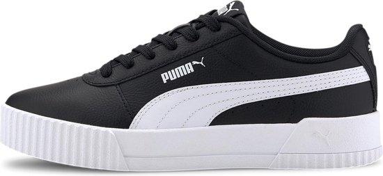 PUMA Carina L Dames Sneakers -Puma Black-Puma White-Puma White - Maat 41