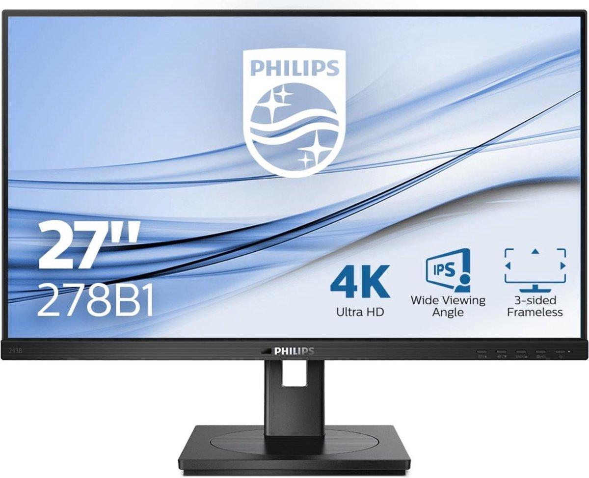 Philips B Line 278B1/00 LED display 68,6 cm (27) 3840 x 2160 Pixels 4K Ultra HD Zwart