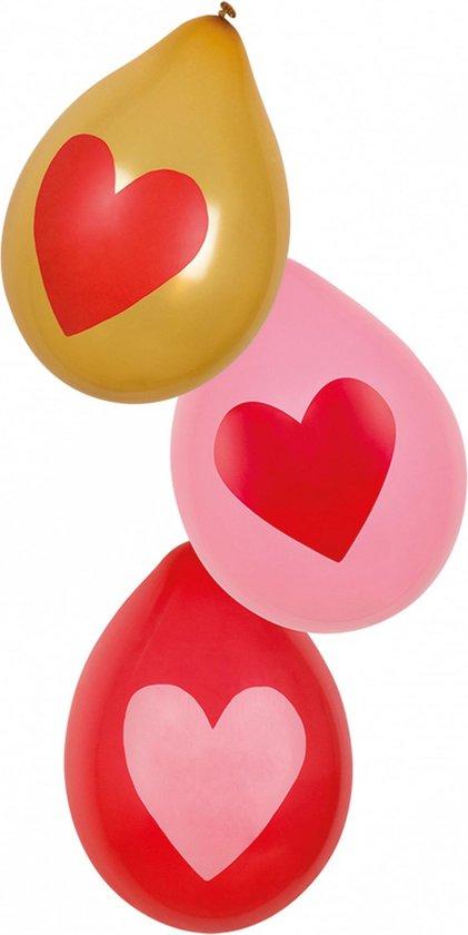 Boland - Ballonnen - Hartjes Ballonnen 25cm - 6 stuks