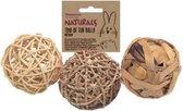 Trio Of Fun Balls - Knaagdierenspeelgoed - M - 8 cm