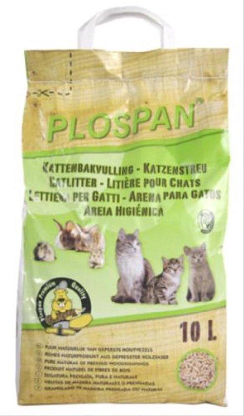 Plospan Houtkorrel Kattenbakvulling