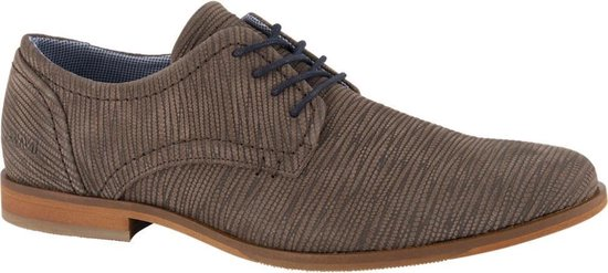 AM shoe Heren Bruine leren geklede schoen - Maat 41