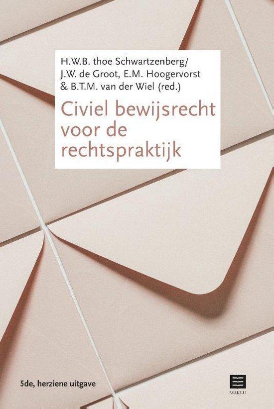 Boek cover Civiel bewijsrecht voor de rechtspraktijk van H.W.B. thoe Schwartzenberg (Paperback)