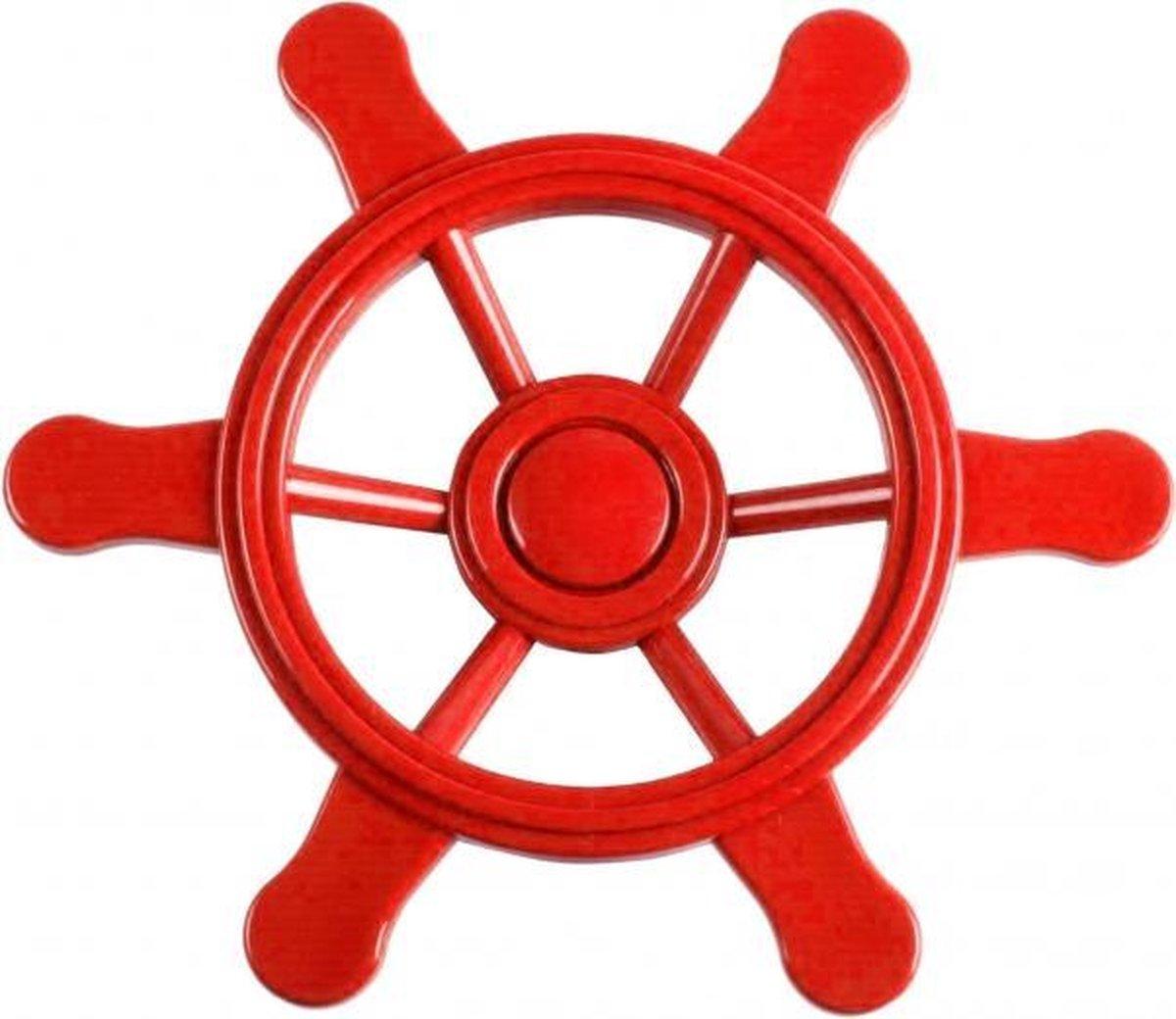 Swing King Piraten stuurwiel 21.5 cm klein rood 2552015