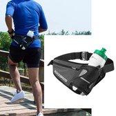 Decopatent® Running belt - Met Bidonhouder- Drinkgordel drinkfles - Hardloopriem - Heuptasje - F