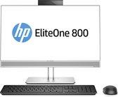 """HP EliteOne 800 G4 60,5 cm (23.8"""") 1920 x 1080 Pixels Intel® 8de generatie Core™ i5 8 GB DDR4-SDRAM 256 GB SSD Windows 10 Pro Wi-Fi 5 (802.11ac) Alles-in-één-pc Zwart, Zilver"""