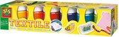Afbeelding van Textielverf 6x50ml speelgoed