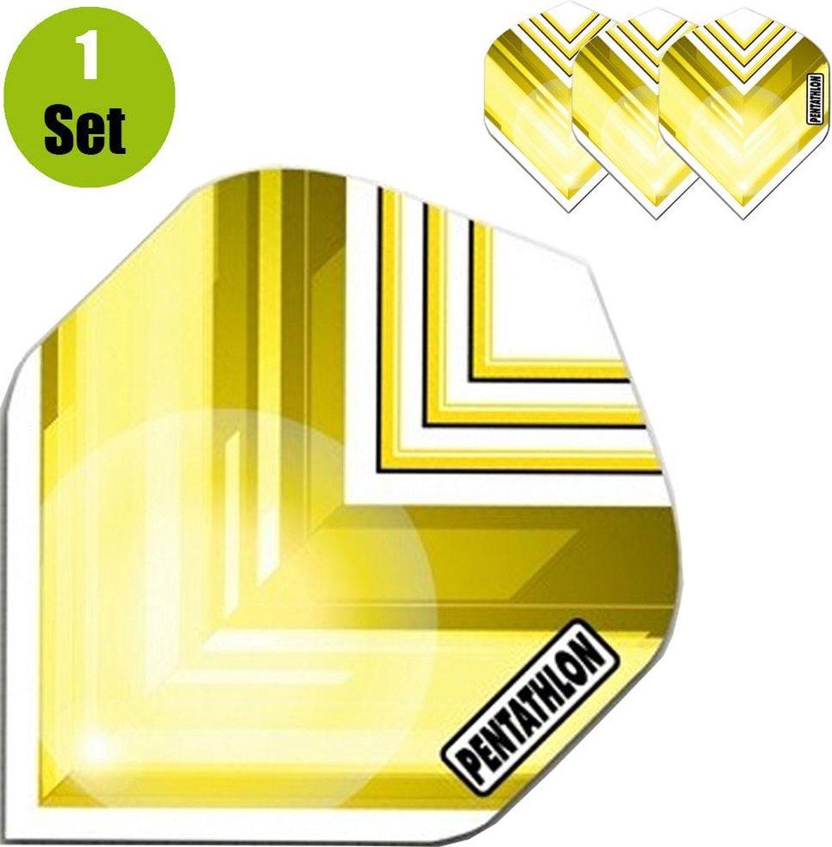 Pentathlon Vizion V Dartflights - Geel- ()