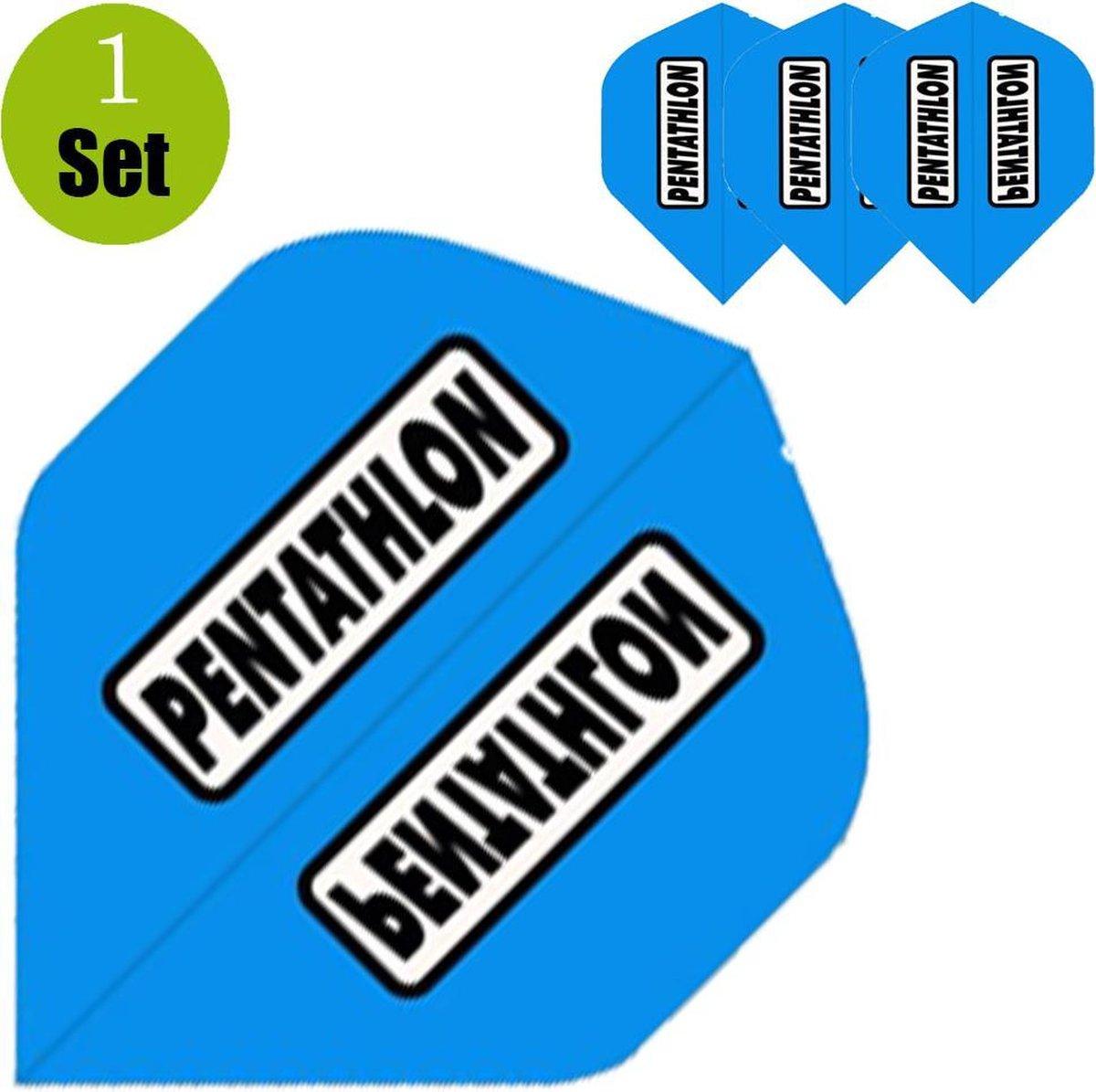 Pentathlon Dartflights - Aqua- ()