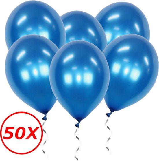 Blauwe Ballonnen Verjaardag Versiering Helium Ballonnen Gender Reveal Feest Versiering Babyshower Blauw - 50 Stuks
