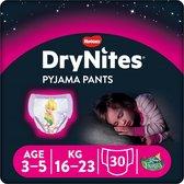 DryNites absorberende luierbroekjes - meisjes - 3 tot 5 jaar - 30 stuks
