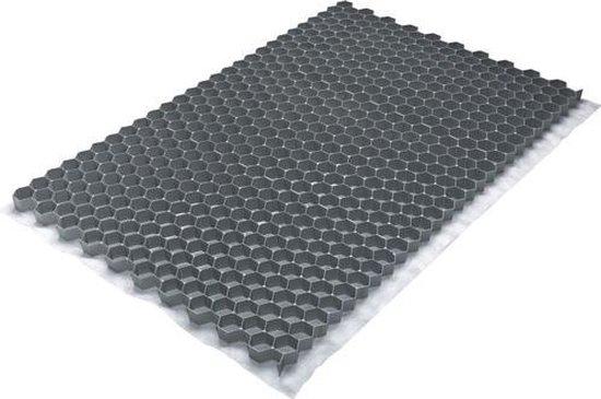 Grindmat Gravel Fix Pro - ca. 120x80 cm - 0,9 m² - Grijs