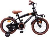 Amigo 2cool - Kinderfiets 16 inch - Jongens - Matzwart
