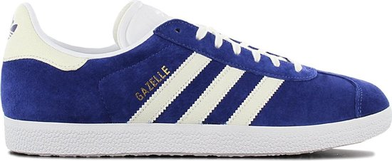 adidas Originals Gazelle B41648 - Heren Retro Sneakers Sportschoenen  Schoenen Blauw-Wit - Maat EU 41 1/3 UK 7.5