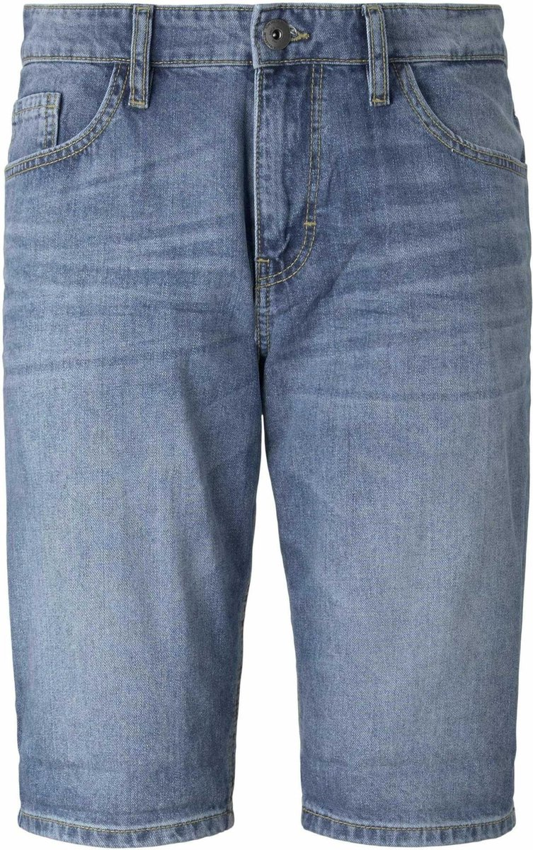 TOM TAILOR BERMUDA - Jeansshort blue denim