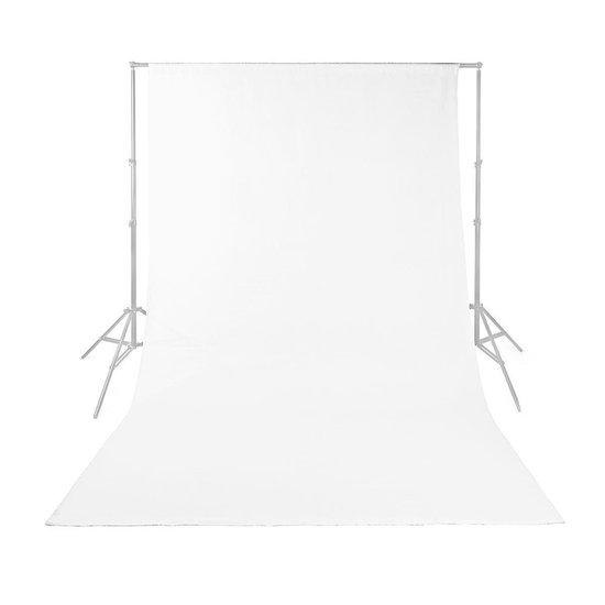 Achtergronddoek voor fotostudio   1,90 x 2,95 m   wit