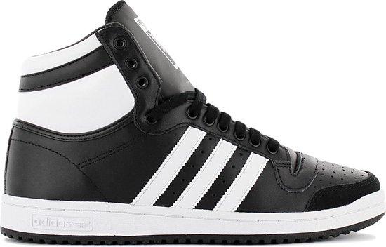 adidas Originals Top Ten Hi - Heren Sneakers Schoenen Sportschoenen Leer Zwart B34429 - Maat EU 43 1/3 UK 9