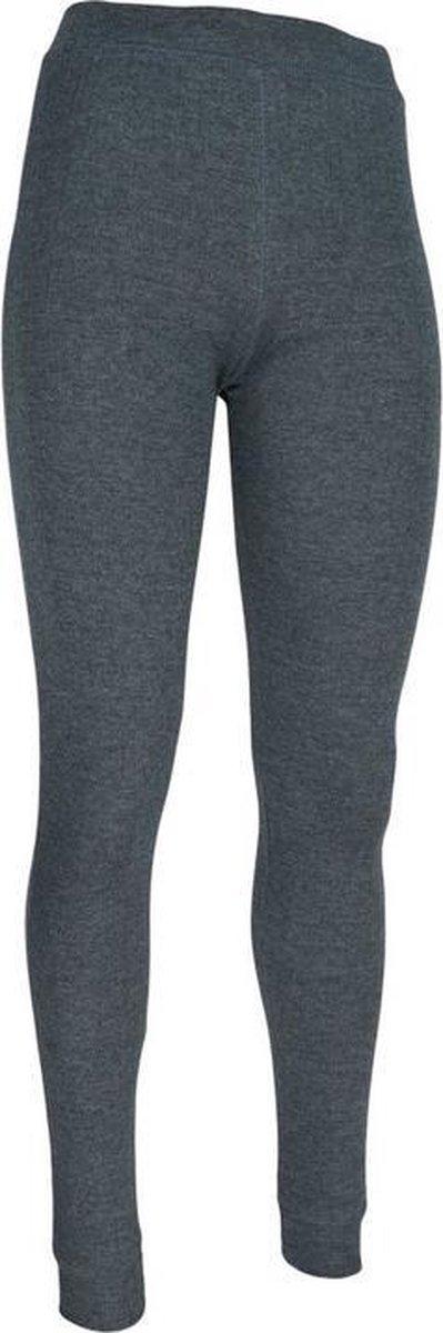 Thermo broek ondergoed lang voor kinderen grijs - Wintersport kleding - Thermokleding - Lange thermo broek 128/134 (8/9 jaar)